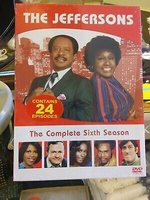 New sealed The Jeffersons The Complete Sixth Season DVD, 3-Disc Set) 24Episodes
