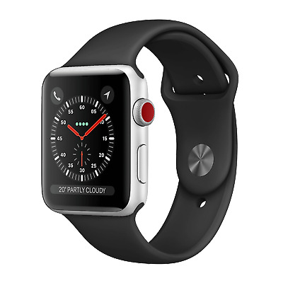 Apple Watch Series 3 42mm Silver Aluminum  GPS + Cellular - Great