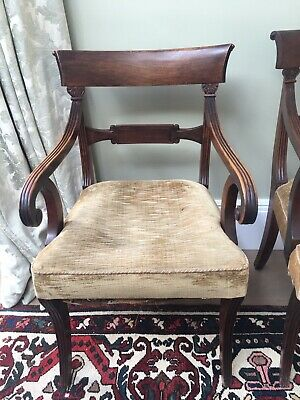 Quality Set 10 Original Late Georgian Dining Chairs