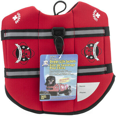 Paws Aboard Neoprene Doggy Red Life Jacket, Small