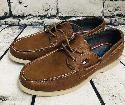 6a6ad30d6a8d3 TOMMY HILFIGER MEN S Boat Shoe Casual Dock Leather TMBowman Tan size ...