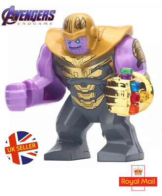 Marvel Avengers Thanos Gold Figure Lego Fit End Game Infinity Gauntlet UK Seller