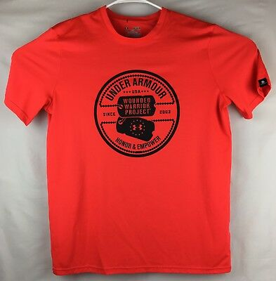 b33bea76 Under Armour Wounded Warrior Project Mens Medium Red Loose T-shirt Tee Shirt