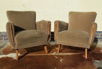 Pair Of Original Vintage German Armchairs  Chairs With Arms Mid Century
