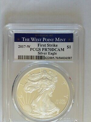 2017-W $1 PCGS PR70DCAM Proof American Silver Eagle Dollar Deep Cameo Proof Coin