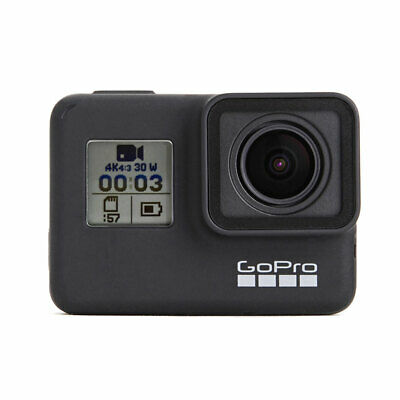 GoPro HERO7 Black Waterproof Compact Action Camera w/ Touch Screen, 4K HD Video