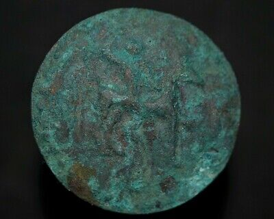 Ancient Celtic Bronze Amulet Pendant depicting Horseman Warrior, circa 150-50 Bc