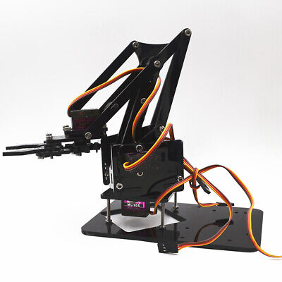 4DOF Assembling Acrylic Mechanical Robotic Arm Claw Tool without SG90 Gear Servo