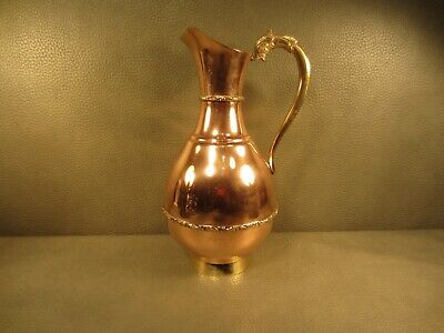 Vintage Copper and Brass Water Pitcher Mexico
