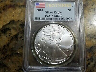 2010 American Silver Eagle 1 oz First Strike - PCGS MS70