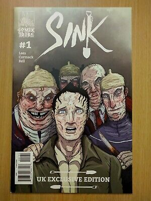 Sink (2017 Comix Tribe) #1 Iain Laurie Forbidden Planet UK Variant Limited 300