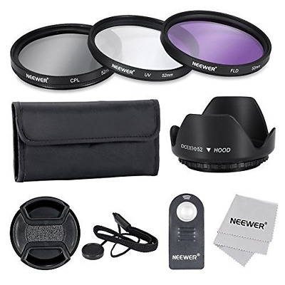 Neewer® 52MM Professional Lens Filter Accessory Kit and IR Wireless RC-6 Remote