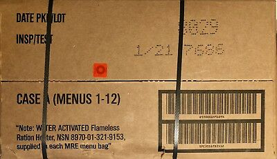 New MILITARY MRE INPECT DATE 2021, CASE A_B BUNDLE , 24 MEALS READY-TO-EAT