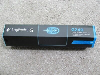 "Brand New Logitech G240 Cloth Gaming Mouse Pad 11"" x 13.4"" Black (943-000043)"