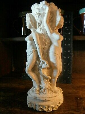 Vintage Bali Lime Stone Sculpture Statue Vase over 10 inches tall