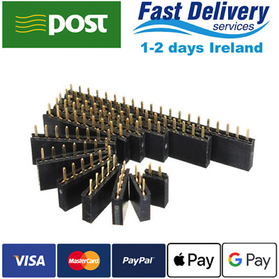 Single Row / Double Row Female Header Socket Connector 2.54mm 2-40 pin