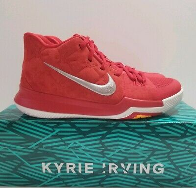 brand new c3790 95932 Nike Kyrie 3 University Red Kyrie Irving GS Basketball Shoes Sz 6.5Y 859466 -601