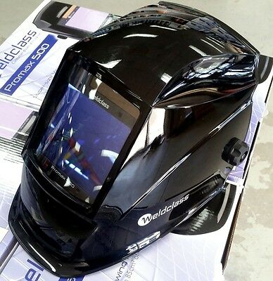 Promax 500 Auto Welding Helmet suits  MIG, ARC & TIG Shade 5 - 13 Down to 5 Amps