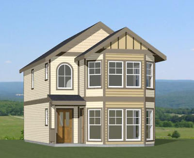 20x42 Duplex - 2 Br 2 Bath - 1,460 sq ft- PDF FloorPlan - Model 6D