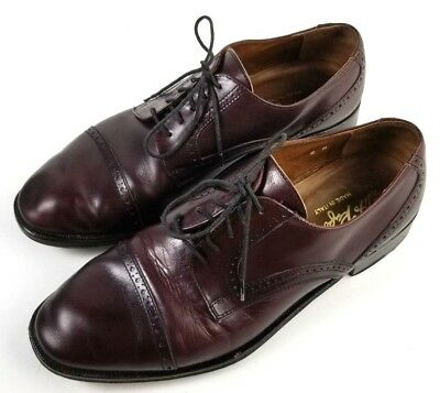 2a7ddebe28dd6 VITO RUFOLO MENS Oxfords Size 8 M Leather Burgundy Oxblood Cap Toe Made in  Italy