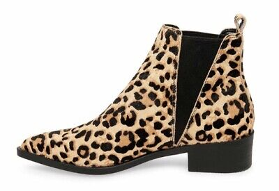 9e952bfe8e3 BRAND NEW IN Box Steve Madden Jerry Leopard Woman Ankle Booties Size 7