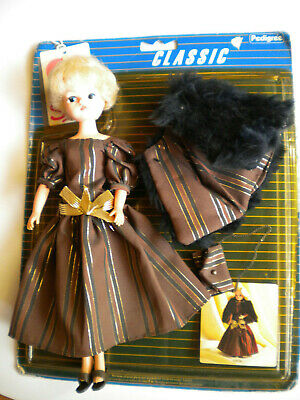 SINDY Lady Di doll in Autumn Stroll complete+packet -Pedigree 1984