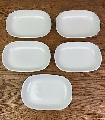 Set of 5 Corning Ware Sidekick P-140-B White Snack Plates Dishes Oven Microwave