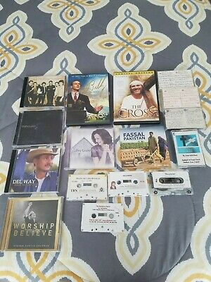 Lot of 13 Christian Music CDS, DVDS & Cassettes - Steven Curtis Chapman, Del Way