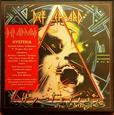 "Def Leppard Hysteria The Singles 10 x 7"" vinyl box set + booklet NEW/SEALED"