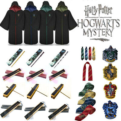 Harry Potter Series Gown Cloak Scarf Magic Sorcery Wand Cosplay Suit Costume New