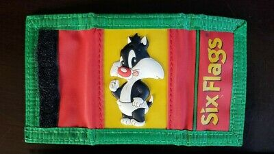 *VINTAGE* 1999 SIX FLAGS LOONEY TUNES CHANGE PURSE Baby Sylvester Cat Keychain