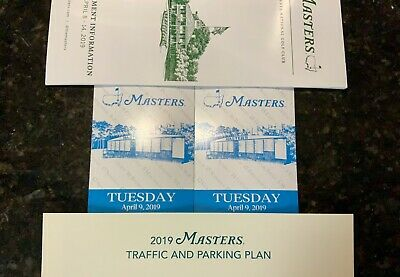 2 Tickets | 2019 Masters Golf Tournament | Tuesday Practice Round, April 9