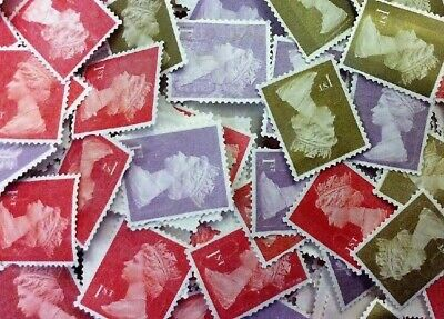 1000 x 1st Class Royal Mail Stamps; Unfranked, No Gum, Off Paper Face Value £670