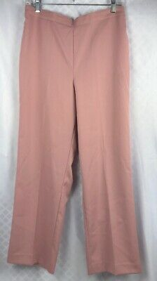 4e456c6464 NWT Alfred Dunner Womans Apricot Linen Look Elastic Waist Pull On Pants  Sz10 00J