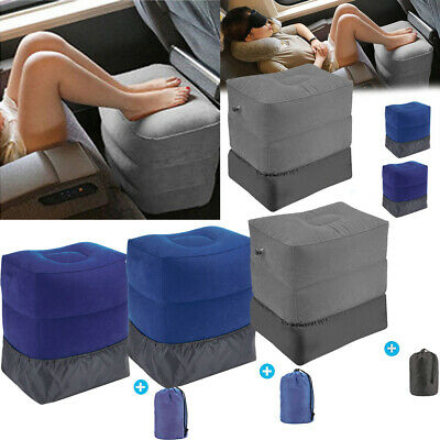 New Inflatable Office Travel Footrest Leg Foot Rest Cushion Pillow Pad Kids Bed