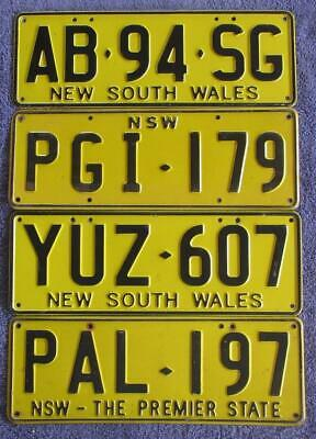 VARIOUS NSW x 4 LICENSE/NUMBER PLATES