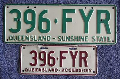 Sunshine State + Matching Accessory License/number Plate # 396-Fyr