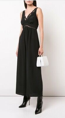 6fb6cf9e3d87 Zimmermann Lace Slip Jumpsuit | 100% Silk Wide Leg Black Cocktail | $550 RRP