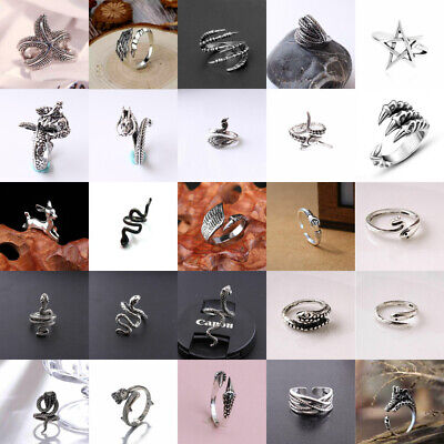 Fashion Unisex Stainless Steel Animal Snake Claw Dragon Open Adjustable Ring Hot