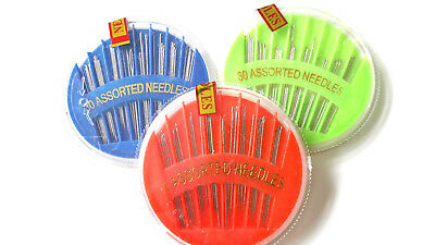 30 x Assorted Hand Sewing NEEDLES - Embroidery Mending Craft Quilt Case Sew