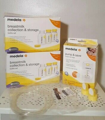 Medela Breastfeeding Lot Bottles, breast milk bags, valves and membrane, tubing