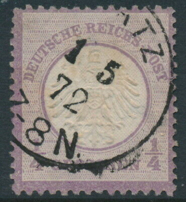 GERMANY - 1872 ¼Gr violet Small Shield (Kleiner Brustschild), used – Michel # 1