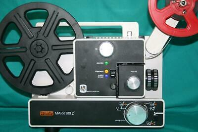 Super & Standard 8Mm Silent Movie Projector. Eumig S-610D  New 100W Lamp A1