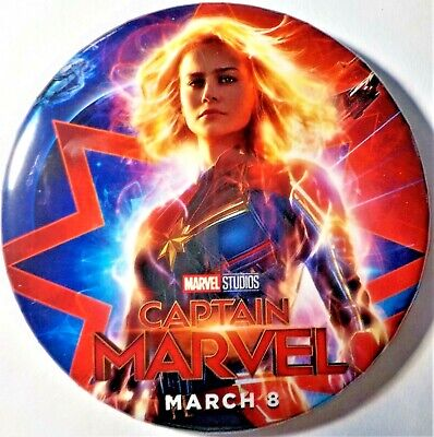 Disney Marvel Studios Captain Marvel  Opening Day Movie Button March 8th 2019