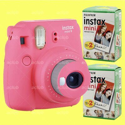 Fujifilm Instax Mini 9 Instant Film Camera (Flamingo Pink) with 40 Sheets