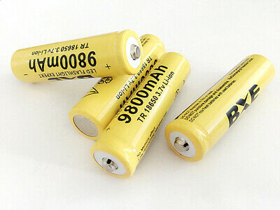 4pcs 9800mAh 18650 Battery For Flashlight Rechargeable Li-ion 3.7V Batteries