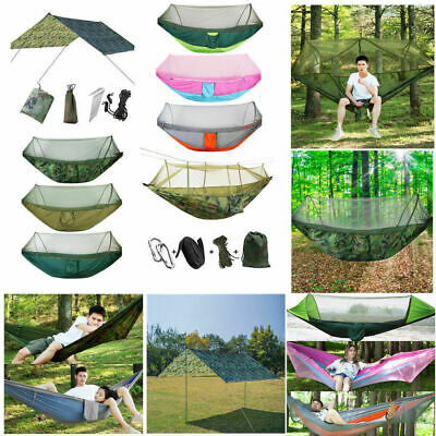 Double Person Outdoor Travel Camping Tent Hanging Hammock Swing Bed Mosquito Net