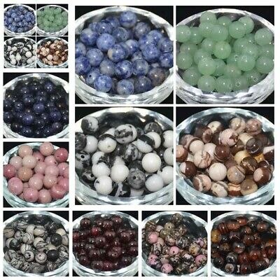 4/6/8/10mm Wholesale Lot Natural Stone Gemstone Round Spacer Loose Beads Crafts