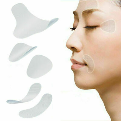 Face Facial Line Wrinkle Sagging Skin Lift Up Tape Frown Smile Lines Forehead