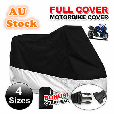 L/XL/2XL/3XL/4XL Waterproof Outdoor Motorcycle Motorbike Cruiser Scooter Cover